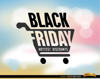 Black Friday Shopping Cart Background Free Vector