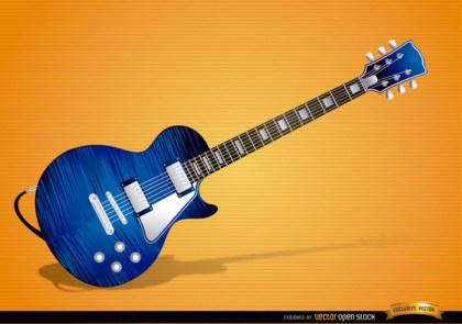 Blue Electric Guitar Instrument Free Vector