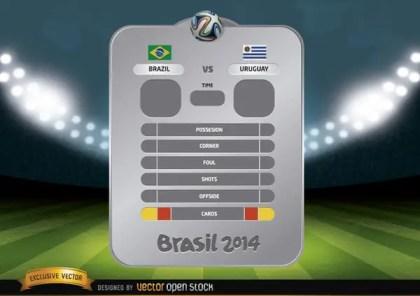 Brazil 2014 Football Vs Panel Free Vector