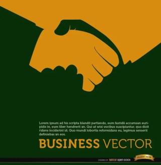 Business Handshake Orange Background Free Vector