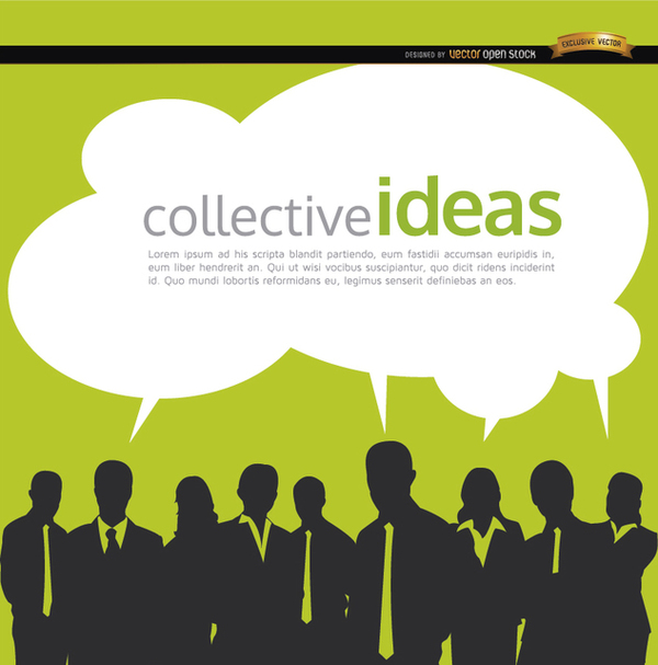 Business People Collective Ideas Background Free Vector