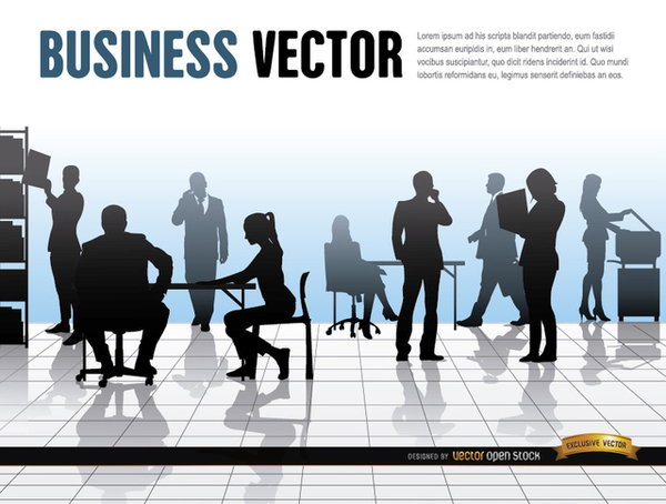 Business People Office Work Free Vector