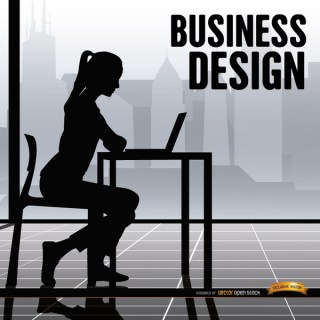 Business Woman Office Working Free Vector