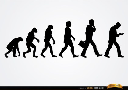 Businessman Evolution Silhouettes Free Vector