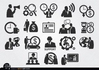 Businessman Icons Set Free Vector