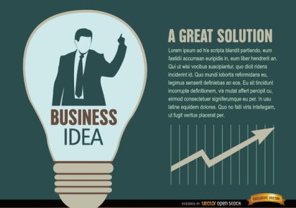 Businessman Idea Light Bulb Free Vector