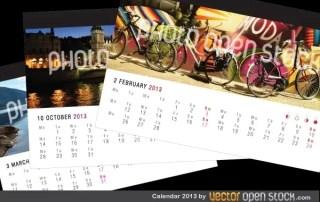Calendar 2013 Free Vector