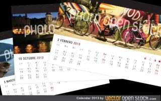 Calendario 2013 Free Vector