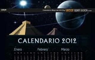Calendario Maya Del 2012 Free Vector