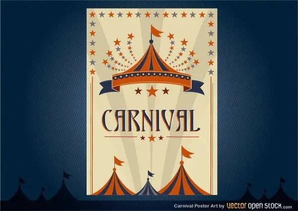 Carnival Poster Design Free Vector