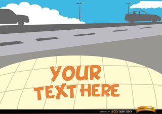 Cars on The Road with Text Space Free Vector