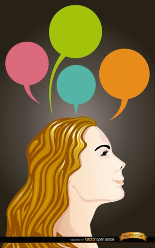 Cartoon Woman Head Ideas Free Vector