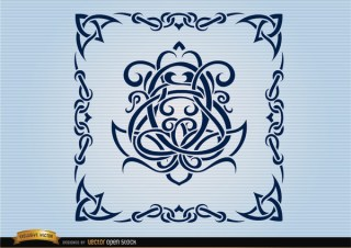 Celtic Swirls Ornamental Frame Free Vector