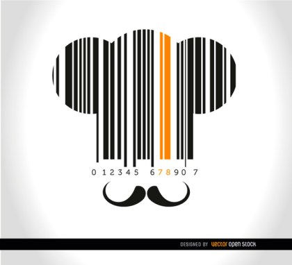 Chef Hat Moustache Codebar Background Free Vector