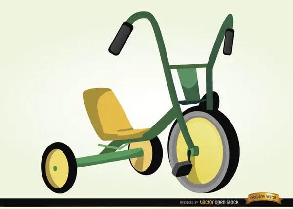 Children Bicycle Cartoon Free Vector
