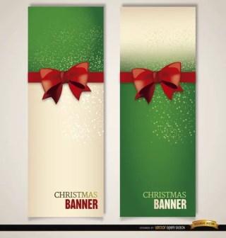 Christmas Bookmarks Ribbon Bow Free Vector