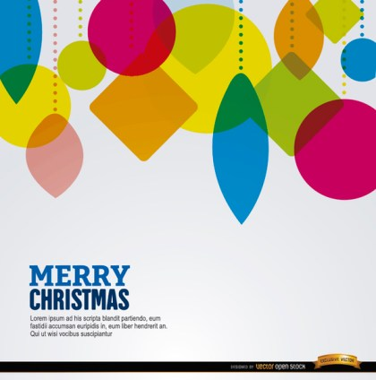 Christmas Geometric Shapes Hanging Background Free Vector