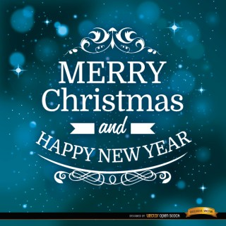 Christmas Message Space Background Free Vector