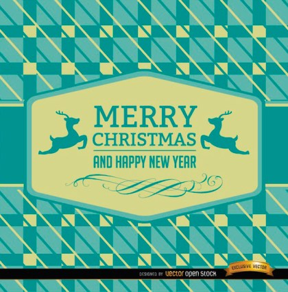 Christmas Reindeer Card Abstract Background Free Vector