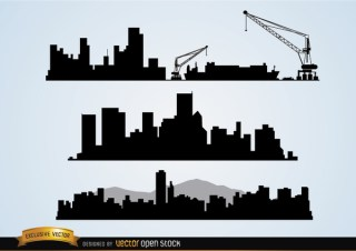 Cityscapes Construction Free Vector