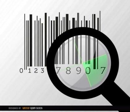 Codebar Search Magnifying Glass Radar Free Vector