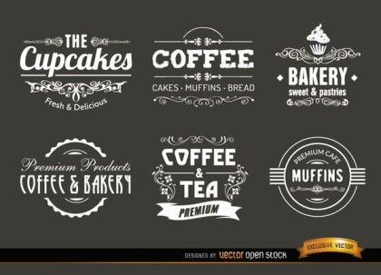 Coffee Vintage Labels and Badges Free Vector