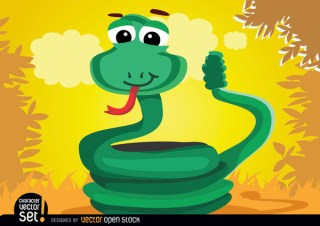 Coiled Rattle Snake Animal Free Vector