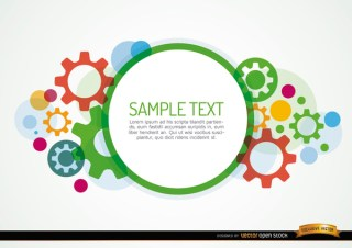 Colored Gears Background Free Vector