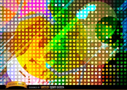 Colorful Guitar Background Free Vector