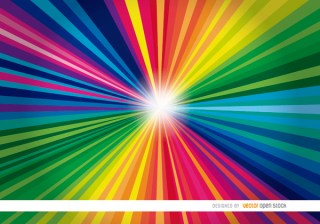 Colorful Radial Stripes Light Background Free Vector
