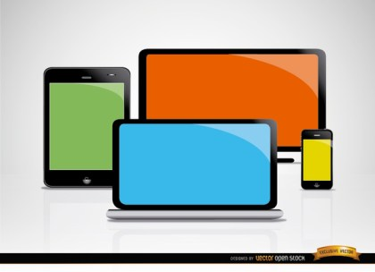 Computer Mobile Screens Free Vector