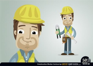 Construction Worker Character Free Vector