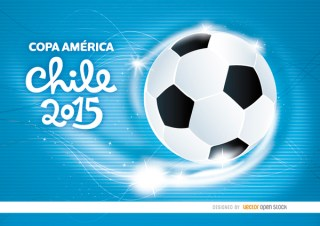 Copa America Chile Football Waves Free Vector