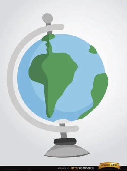 Desktop Earth Globe Cartoon Free Vector