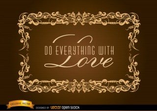 Elegant Frame For Inspirational Label Free Vector