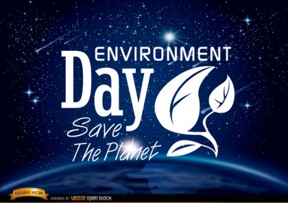Environment Day Planet Earth From Space Free Vector