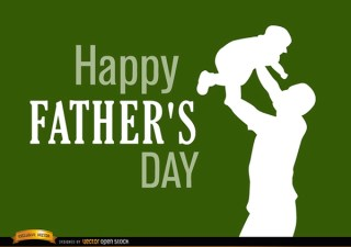 Fathers Day Dad Raising Baby Free Vector