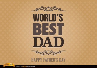 Fathers Day Label World Best Dad Free Vector