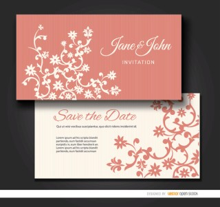 Floral Marriage Invitation Sleeve Free Vector
