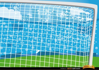 Football Goalposts Cartoon Background Free Vector