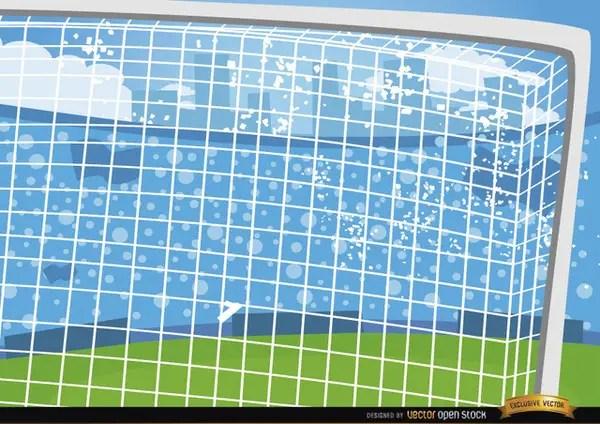 Football Goalposts Cartoon Background Free Vector