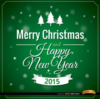Green Merry Christmas Card Message Free Vector