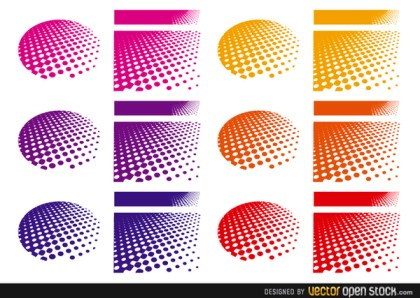 Halftone Backgrounds Free Vector