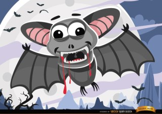 Halloween Bloody Bats Night Wallpaper Free Vector