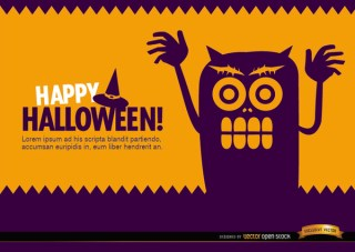 Halloween Creepy Monster Wallpaper Free Vector
