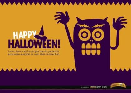 Halloween Creepy Monster Wallpaper Free Vector