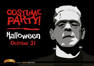 Halloween Invitation Party Frankenstein'S Monster Free Vector