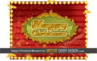 Happy Christmas Frame Free Vector