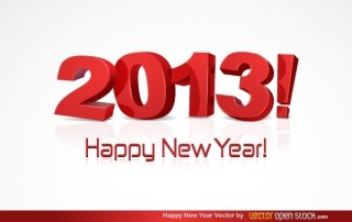 Happy New Year 2013 Free Vector