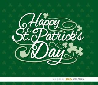 Happy St. Patricks Shamrocks Wallpaper Free Vector